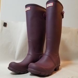 Hunter Purple Rain Wellington Boot sz 7 like new